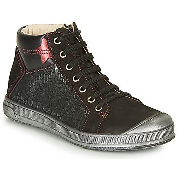 Schuhe Mädchen Sneaker High GBB ORENGETTE Schwarz / Silbern