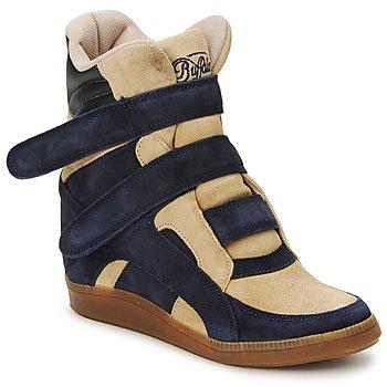 Schuhe Damen Sneaker High Buffalo GINGERWA Marine / Beige