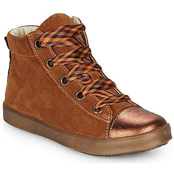 Schuhe Mädchen Sneaker High GBB OUSTILLE Cognac