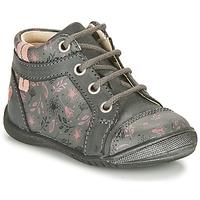 Schuhe Mädchen Boots GBB OMANE Grau / Rose