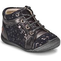 Schuhe Mädchen Boots GBB OMANE Marine / Silbern