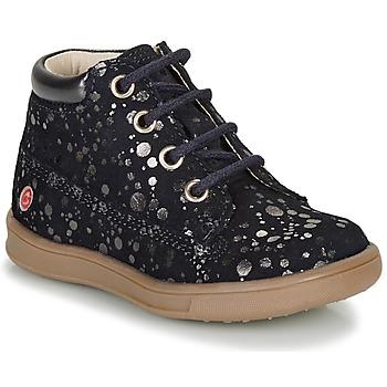Schuhe Mädchen Boots GBB NINON Marine / Silbern