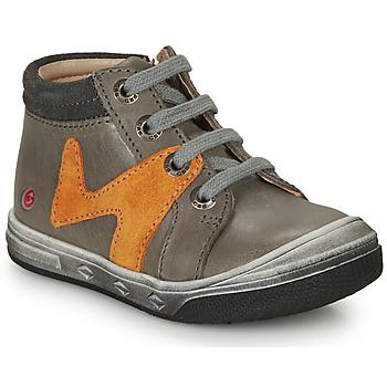 Schuhe Jungen Sneaker High GBB OLINOU Grau / Ocker