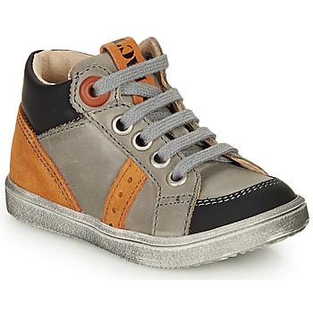 Schuhe Jungen Sneaker High GBB ANGELITO Grau / Orange