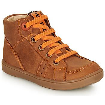 Schuhe Jungen Sneaker High GBB ANGELITO Cognac / Orange