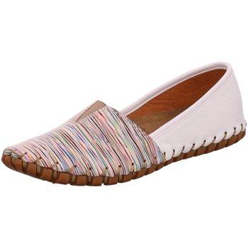 Schuhe Damen Leinen-Pantoletten mit gefloch Gemini Slipper Slipper 031203 29 516 bunt
