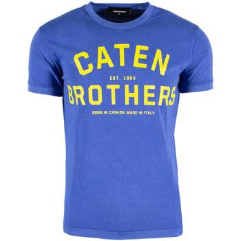 Kleidung Herren T-Shirts Dsquared DSQTSHUA172ST0293805 Blu