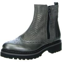 Schuhe Damen Boots Donna Carolina Stiefeletten Stone Perla 32.055.014 grau