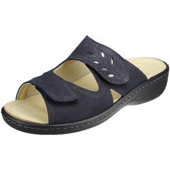 Schuhe Damen Pantoffel Portina Pantoletten navy (nacht-altsilber) 10.304 blau