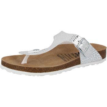 Schuhe Damen Pantoffel Lico Bioline stone silberfarben