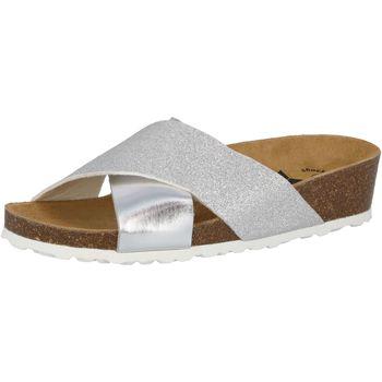 Schuhe Damen Pantoffel Lico Bioline Prime silberfarben