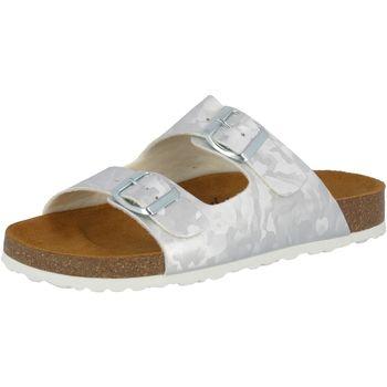 Schuhe Damen Pantoffel Lico Bioline Platino silberfarben