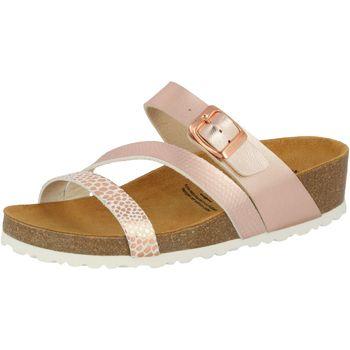 Schuhe Damen Pantoffel Lico Natural Glitter rosa