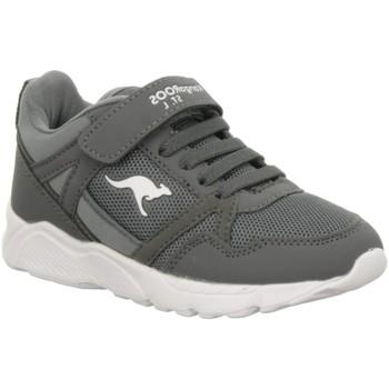 Schuhe Jungen Sneaker Low Kangaroos Schnuerschuhe K-Jumper,steel grey/white 18344/2032 grau