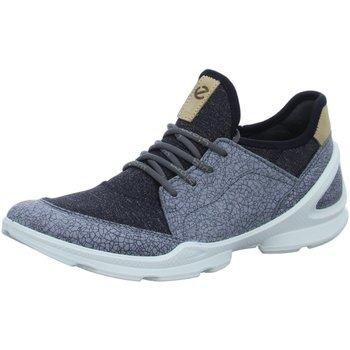 Schuhe Damen Sneaker Low Ecco Schnuerschuhe BIOM STREET titanium/black 841833-50347 grau