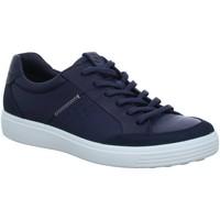 Schuhe Herren Sneaker Low Ecco Schnuerschuhe 430804-51313-Soft-7 blau