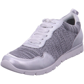Schuhe Damen Sneaker Low Jana Woms Lace-up GREY/SILVER