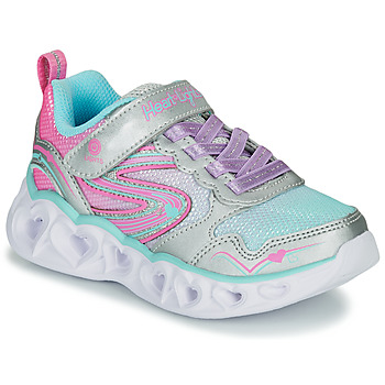 Schuhe Mädchen Sneaker Low Skechers HEART LIGHTS Silbern / Rose /  led