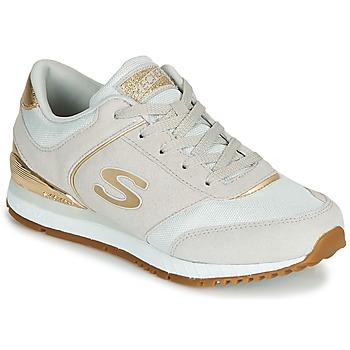 Schuhe Damen Sneaker Low Skechers SUNLITE Grau / Gold
