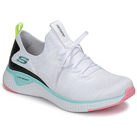 Schuhe Damen Fitness / Training Skechers FLEX APPEAL 3.0 Weiss / Rose / Blau