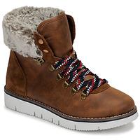 Schuhe Damen Boots Skechers BOBS ROCKY Braun