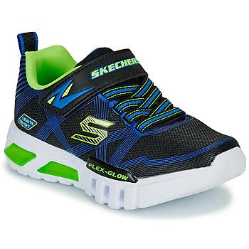 Schuhe Jungen Sneaker Low Skechers SKECHERS BOY Blau / Grün