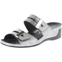 Schuhe Damen Sandalen / Sandaletten Vital Pantoletten Tina 0836-159-15 platin Seed 0836-159-15 silber