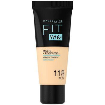 Maybelline New York  Make-up & Foundation Fit Me Matte+poreless Foundation 118-nude