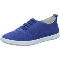 Schuhe Damen Sneaker Low Ecco Schnuerschuhe Ecci Leisure 205003.01325 blau