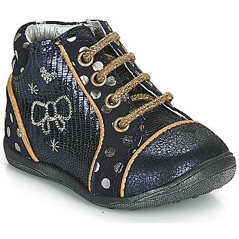Schuhe Mädchen Boots Catimini CARASSIN Marine / Gold