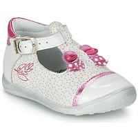 Schuhe Mädchen Sandalen / Sandaletten Catimini CALATHEA Weiss / Rose