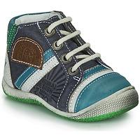 Schuhe Jungen Boots Catimini CIGOGNE Blau / Grün