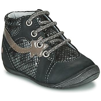 Schuhe Mädchen Boots GBB NOEMIE Schwarz / Silbern