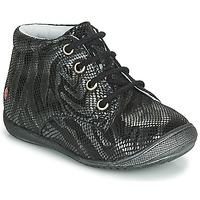 Schuhe Mädchen Boots GBB NAOMI Schwarz / Silbern