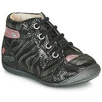 Schuhe Mädchen Boots GBB NICOLE Schwarz / Silbern