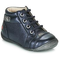 Schuhe Mädchen Boots GBB NICOLE Marine / Silbern