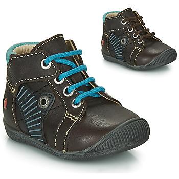 Schuhe Jungen Boots GBB NATALE Braun / Blau