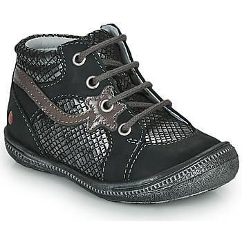 Schuhe Mädchen Boots GBB NORA Schwarz / Silbern