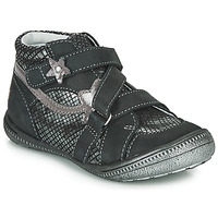 Schuhe Mädchen Boots GBB NINA Schwarz / Silbern