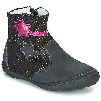 Schuhe Mädchen Boots GBB NADIA Schwarz / Rose