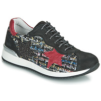 Schuhe Mädchen Sneaker Low Achile LAURA Schwarz / Rot / Multicolor
