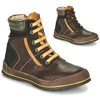 Schuhe Jungen Boots Achile MANUEL Braun / Gelb