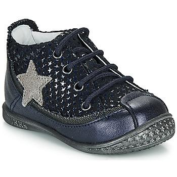 Schuhe Mädchen Boots Ikks SYDNEY Marine / Silbern