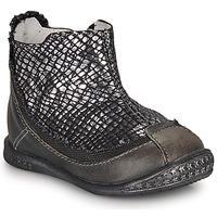 Schuhe Mädchen Boots Ikks SCARLET Schwarz / Silbern