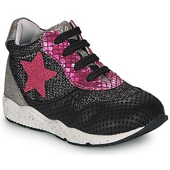 Schuhe Mädchen Sneaker Low Ikks KAREN Schwarz / Rose