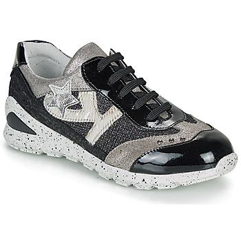 Schuhe Mädchen Sneaker Low Ikks FIONA Schwarz / Silbern