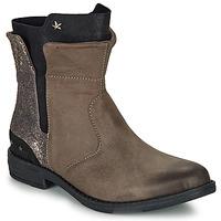 Schuhe Mädchen Boots Ikks PAMELA Maulwurf / Goldfarben