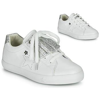 Schuhe Mädchen Sneaker Low Ikks MOLLY Weiss / Silbern