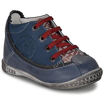 Schuhe Jungen Boots Ikks STEVEN Marine / Rot