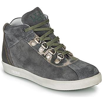 Schuhe Jungen Boots Ikks ISAAC Grau / Kaki